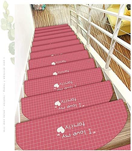 Tappetini vuoti per scale, 5 pezzi, tappetino antiscivolo, resistente, protezione antiscivolo, 65 x 24 cm, vari colori Stile 1