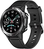 DOOK Fitness Tracker Smart Watch with Blood Pressure Heart Rate Sleep Monitor for Men and Women Touch Screen 12 Sport Modes Waterproof Activity Tracker with Pedometer for Android and iPhone-Black