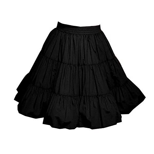 3dda81688b4a 3-Tier Solid Color Western Style Square Dance Skirt