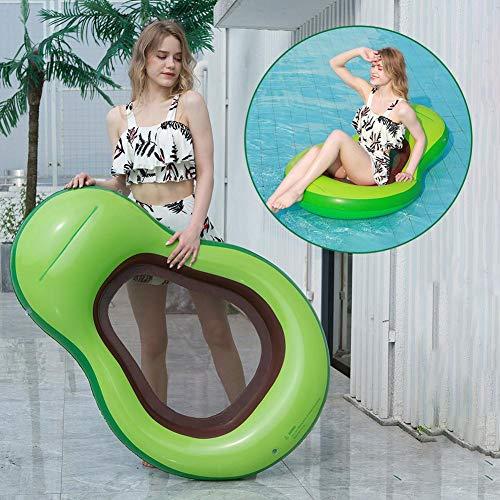 Aufblasbare Avocado Luftmatratze Wasser Aufblasbare Avocado Pool Floß, Schwimmende Avocado Schwimminsel Pool Spielzeug, Sommerspielzeug Strand Party Kinder Erwachsene