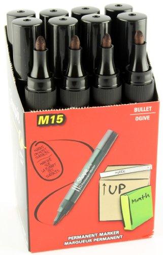 Marcatore permanente Sharpie M15 Papermate, Punta tonda, Inchiostro Nero, tratto 1,8 mm, S0192584, Confezione da 12 pz