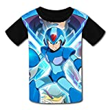 maichengxuan Magliette Manica Corta, T-Shirt Short Sleeve Kids Tee Shirt Megaman X Legacy Collection Funny Tshirt for Girls&Boys