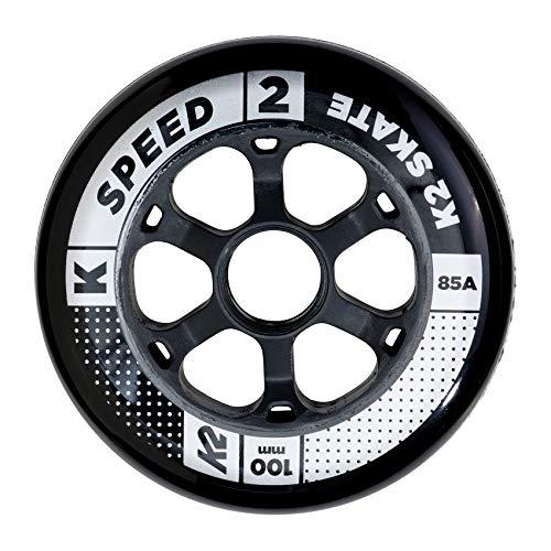 K2 Inline Skates Rollenset 100 mm Speed Wheel Ersatzrollen - Schwarz - 4 Rollen - 30B3006.1.1.1SIZ