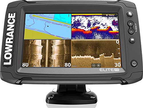 Elite-7 Ti - 7-inch Fish Finder No Transducer Model with US and Canada Navionics+ Map Card