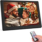 SEQI 10.1 Inch Digital Photo Frame, 1920x1080 Full HD IPS Display Photo/Music/Video Player Calendar Alarm Auto On/Off Timer, Support USB and SD Card, Remote Control