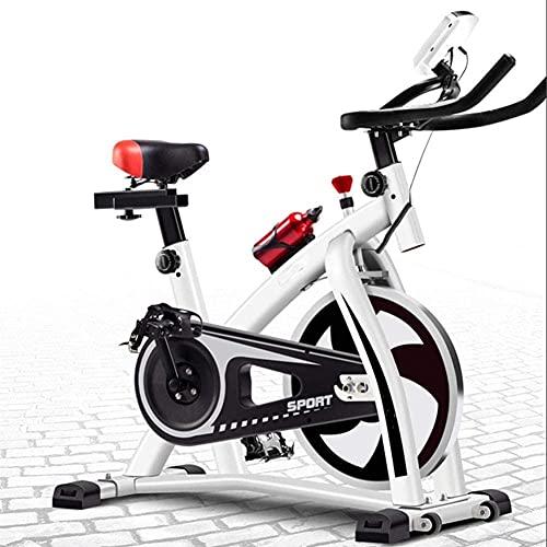 Qjkmgd Bicicletas giratorias, Bicicletas de Ejercicio Interior Resistencia al hogar Ultra-silenciosa Ajustable con Pantalla LCD Cojín de Asiento Super Suave Adecuado para Ejercicio aeróbico Interior,