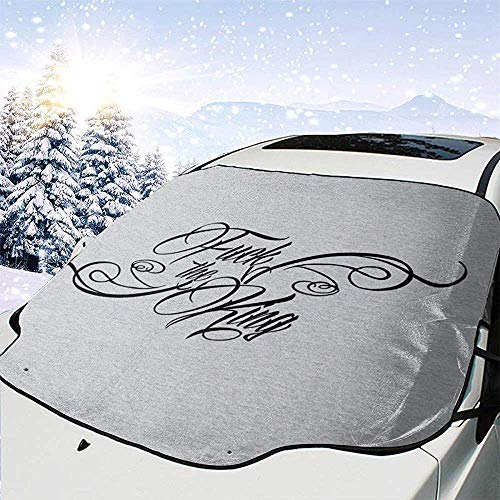 MaMartha Car Windshield Snow Cover Game Thrones The Hound Fuck The King Parabrezza per Auto Parabrezza, Rimozione del Ghiaccio Parasole, Vestibilità universale