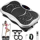 VEVOR Vibration Plate Platform Full Body Exercise Fitness Trainer Machine Music Player White