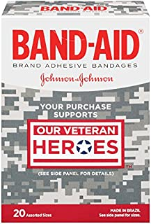 Band-Aid Decorative Adhesive Bandages, Our Veteran Heroes Assorted, 20 Count (Pack of 6)