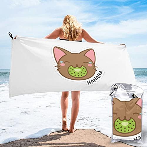 Sunmuchen Kawaii Kiwi Asciugamano da bagno, Palestra, Telo mare, Multiuso Uso per Sport, Viaggi, Super Assorbente, Microfibra Soft Asciugatura Rapida Leggero
