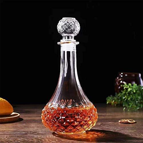 RVTYR Decantadores de whisky Decantador de vino de cristal con tapón, soporte Hanade dispensador de vino, decantador de whisky, decantador de alcohol para bebidas alcohólicas (color: 3)