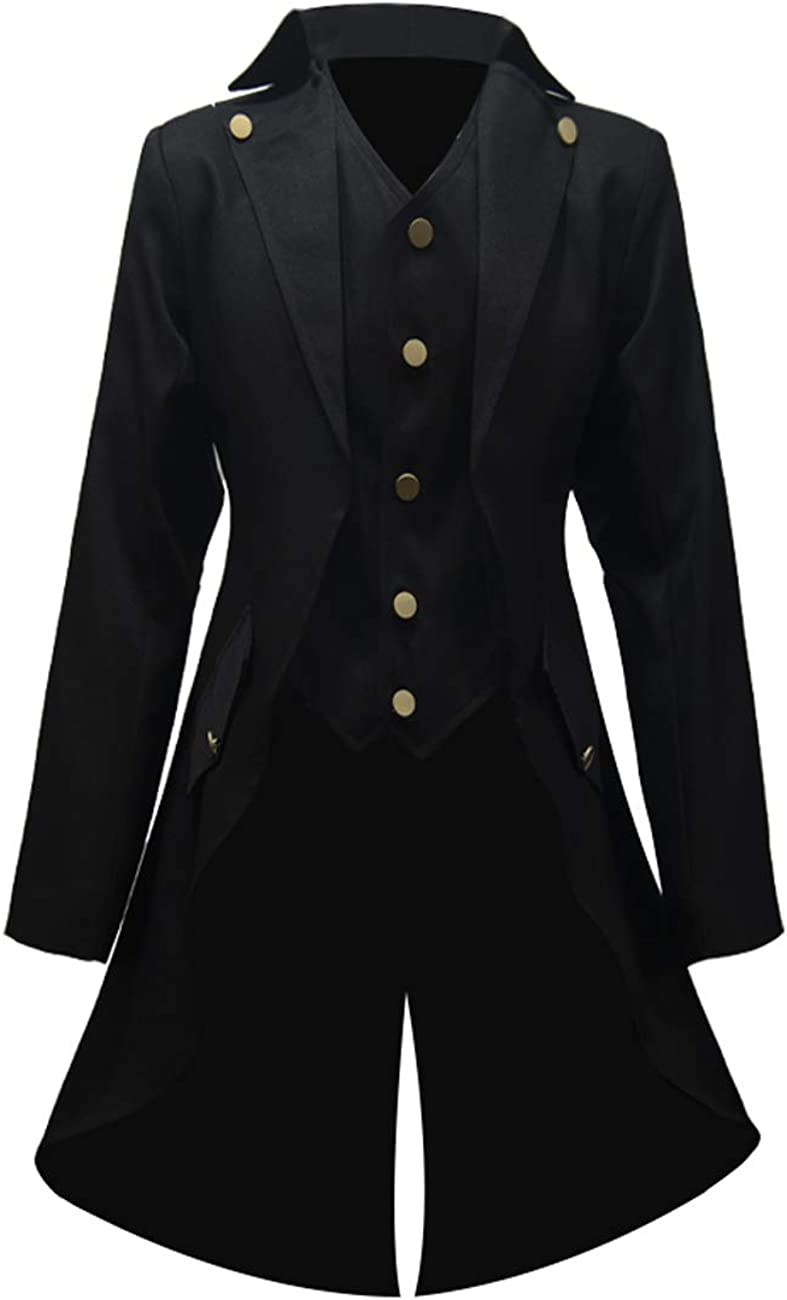 Crubelon Men's Ultra-Cheap Deals Steampunk Vintage Gothic Fr Victorian Jacket Tulsa Mall