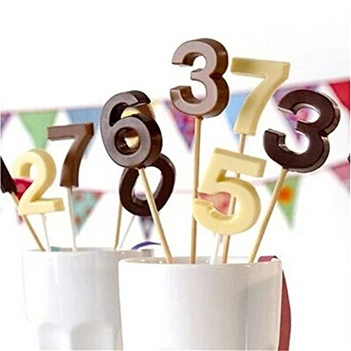 Haodou Moldes Silicona Alfabeto Número 0-9 3D Lollipop Agujero Fondant Cake Decoración Molde Herramientas de La Torta Pasta de Azúcar del Caramelo Moldes de Chocolate