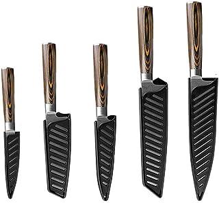 Cocina Cuchillo láser lijado chef cuchillos de cocina del cuchillo 7Cr17 japonesa 440C alto contenido de carbono del acero inoxidable de imitación de Damasco Cerámica (Color : G)