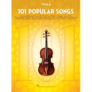 101 Popular Songs – Viola (Instrumental Folio)