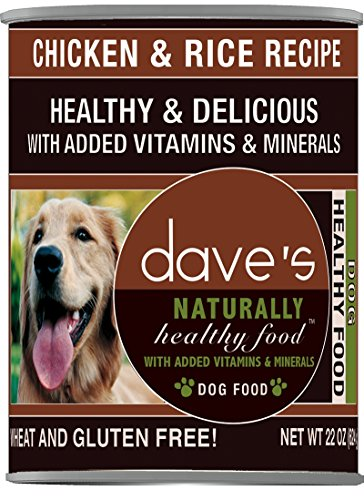 Dave'S Naturally Healthy, Chicken & Rice For Dogs, 22 Oz Can (Case Of 12 ) (Cat Food Without Carrageenan And Guar Gum)
