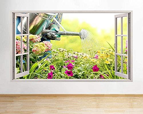 Pegatinas de pared Jardinería Flores Rosa Naturaleza Cocina Calcomanía Póster Arte Vin B057-3D - Poster-50x70cm