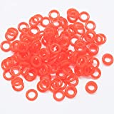 120Pcs Rubber Keyboards O-Ring Switch Dampeners Keycap for Cherry MX Key Kit Dampers 40A-L-0.2mm Reduction with 1PCS random color keycap puller (Rojo)