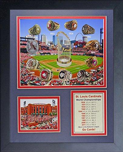 Lance Berkman St Louis Cardinals MLB Framed 8x10 Photograph 2011 World Series Game 1 RBI Single