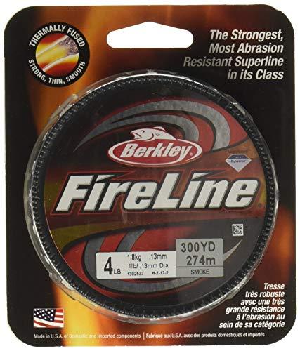 Berkley Fused Crystal Fireline, 10/4 Lb, 125 Yd , Smoke