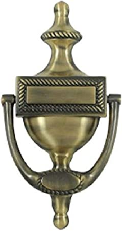 Ador PK1.605 Solid Brass Ring Door Knocker with Round Bases in Polished Brass