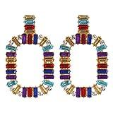YAZILIND aleación hueco forma geométrica colgante cuelgan pendientes mujeres cumpleaños fiesta joyería regalo