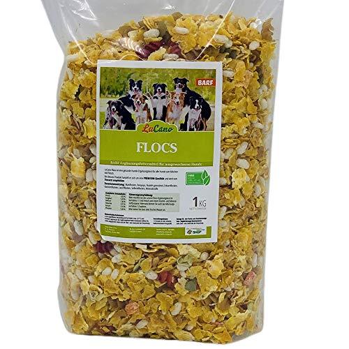 LuCano 1 kg Flocs   mit Maisflocken, Reispops, Gemüse, Nudeln usw.   Barf Flocken Mix Ergänzung   Ergänzungsfutter Mixer   Flocken-Mixer Hundefutter Hundeflocken Barfflocken mit Gemüseflocken