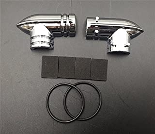 HTT Motorcycle Chrome Fuel Line Fitting Cover For Harley Davidson Fuel Injected Electra Glides Road Glides Road Kings Street Glides Trikes Softail Dynas Sportsters