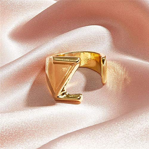 DGSDFGAH Ring For Women Z Lady'S Ring Modified Face Bold Initials Gift Party