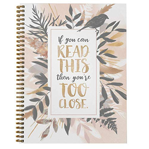 Softcover If You Can Read This 8.5' x 11' Quarantine Spiral Notebook/Journal, 120 College Ruled Pages, Durable Gloss Laminated Cover, Gold Wire-o Spiral. Made in the USA