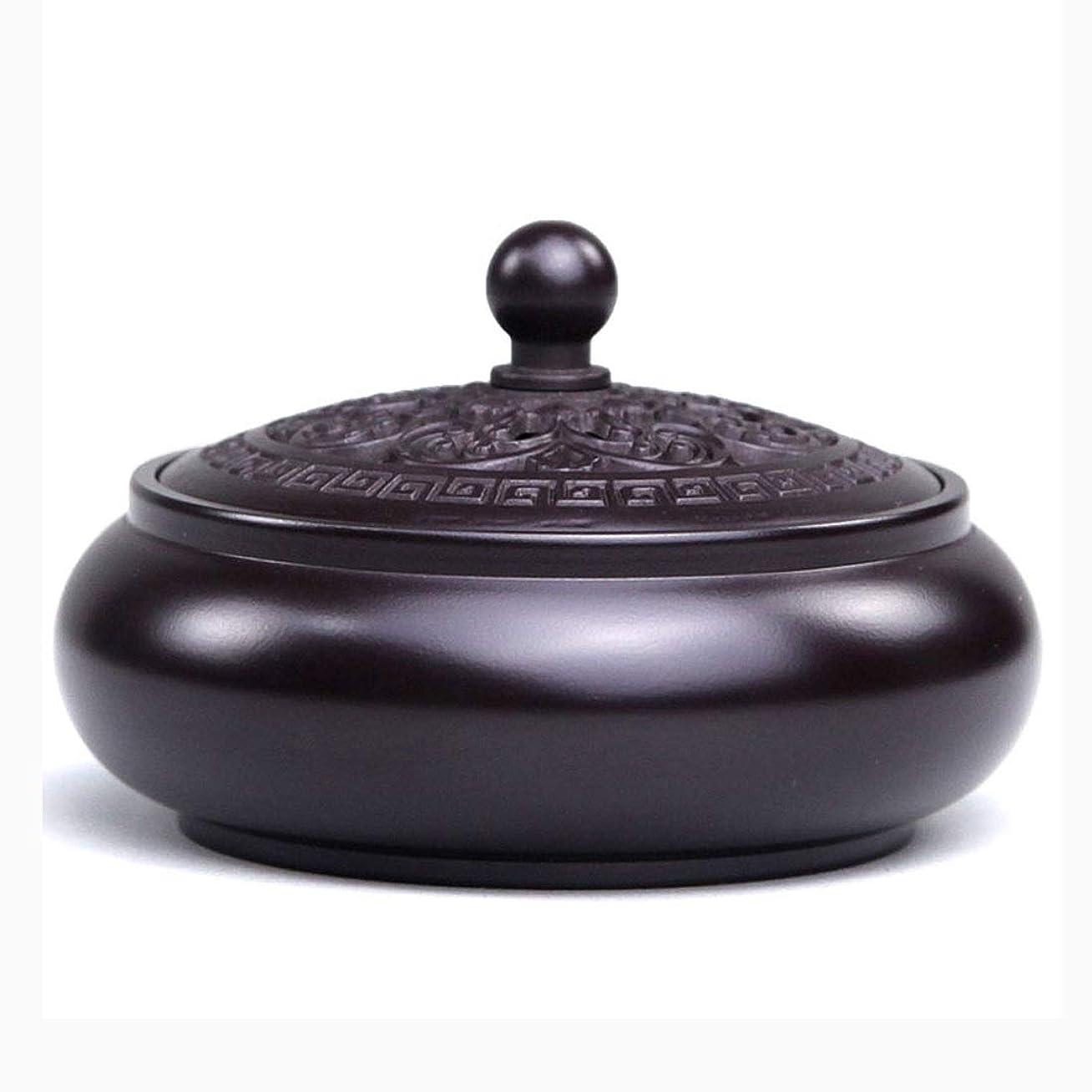 拡大する合体エキゾチック芳香器?アロマバーナー 純銅香炉家庭用香炉白檀ストーブ茶セット用仏香炉 アロマバーナー (Color : Red copper)