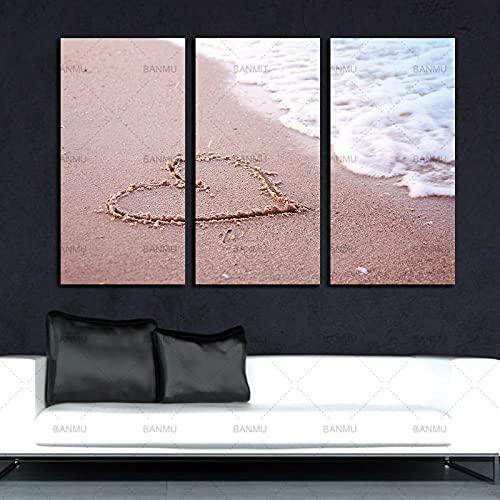 Cuadro en lienzo Póster de pared impreso en la playa Paisaje Barco Arte de la pared Decoración del hogar Lienzo moderno Cuadro de pared para sala de estar Sin marco-30x60cm