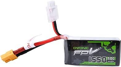 OVONIC 11.1V 1550mAh 3S LiPo Battery Pack 50C with XT60 Plug for Skylark QAV 250 Vortex Drone and FPV Racing