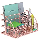 NiceGoAZB Schreibtisch-Organizer mit ausziehbarer Schublade, Ablage und Stifthalter aus Papier, aufrechte Abschnitte, Metallgeflecht, multifunktional, Schreibtisch-Organizer für Büro und Schule etc.
