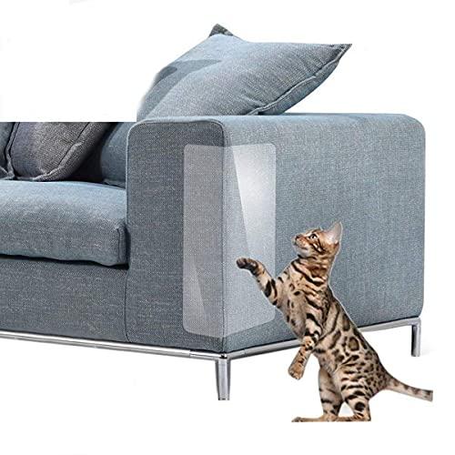 Boehner - Cuscinetti autoadesivi per proteggere i gatti tiragraffi per mobili per tappezzeria, sedie in pelle anti graffio, copriangolo (4 pezzi)