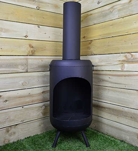 Koopman 1.05m Ambiance Ambient Black Fireplace Wood Burner with Chimney
