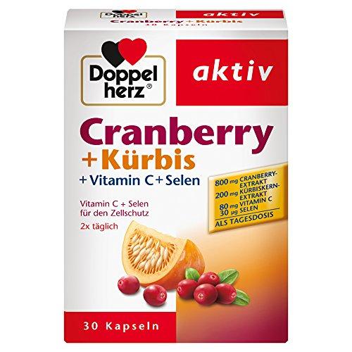 Doppelherz Cranberry + Kürbis – Mit Vitamin C + Selen für den Zellschutz und Immunsystems, 30 Kapseln