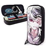 Estuche Escolar de Gran Capacidad, Bolsa de Lápiz Portable Estuche Organizador para Material Papelería con Cremallera Doble Tokyo Ghoul Anime Juuzou Suzuya