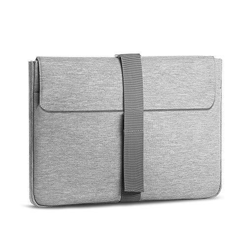 AtailorBird Laptophülle, Laptoptasche 13-14 Zoll Ultrabook Notebook Handtasche Schutzhülle stoßfest Notebooktasche Laptop Schutztasche(Grau)