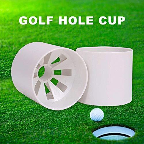 Opfury Golf Loch Putting Cup, üben Putting Golf Cup mit 8 Drainagelöchern, Outdoor Golf Practice Ball Cup, 6 Zoll Elfenbein Weiß