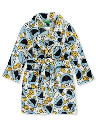Sesame Street Little Boys' Toddler Cookie Monster Plush Robe - Multi, 4t