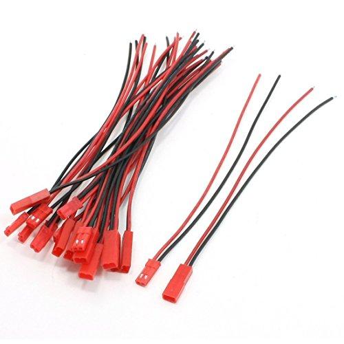 TOOGOO(R) SODIAL(R) 10 Paires 22AWG 150mm Cable avec 2 broche JST M FFiche pour la connexion RC Moteur Batterie