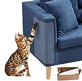WELLXUNK 4PCS Kratzschutz for Katze Hund,Katze Kratzen Couch Schutz mit 20 Schrauben,Haustier Couch Schutz Stoppen Sie Katzen die Möbel kratzen