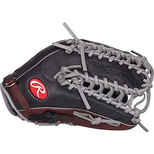Rawlings R9 Baseball Glove, Black, 12.75
