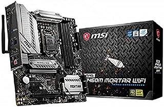MSI B460M Mortar WiFi Gaming Motherboard LGA 10th Gen mATX MB 4xDDR4 3xPCIE RAID 1xHDMI 1xDP 2xM.2 8xSATAIII 2xUSB3.2 6xUS...
