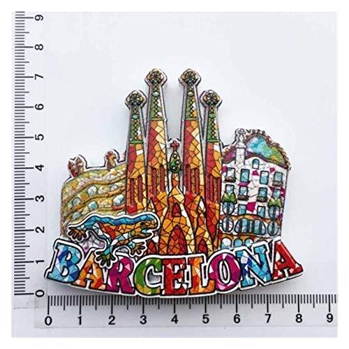XINGYAO Imanes Decorativos Touvenirs del Mundo y Ciudadano de los Puntos de Referencia españoles Barcelona Madrid Granada Sevilla Toledo Córdoba España Frigorífico Decoración decoración (Color : 9)