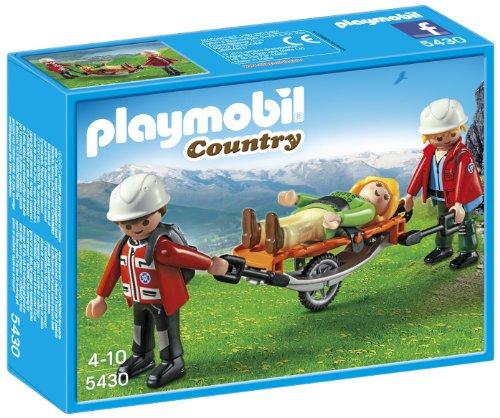 Playmobil Vida en la Montaña - Equipo de Rescate de montaña con Camilla, Playsets de Figuras de Juguete, 20 x 5 x 15 cm, (5430)