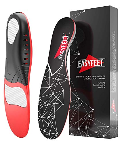 Easyfeet Arch Support Insoles for Men and Women Shoe Inserts - Orthotic Inserts - Flat Feet Foot -...