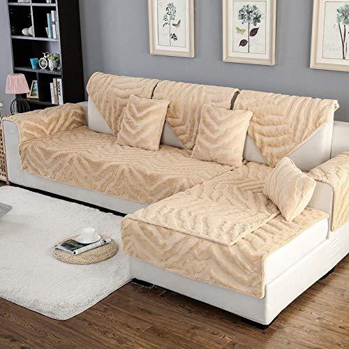 Hybad Warm hoekbank hoes, pluche dikke anti-slip Sectional Sofa slipcover, anti-vuile bank kussen, rug handdoek, bank saver protector