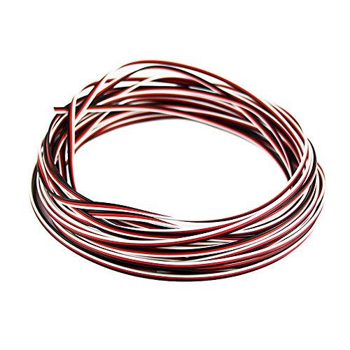OliYin 50 Feet 22awg Servo Cable 3p Line For Futaba JR RC...